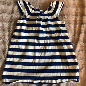 Hanna-Andersson Toddler Blue Stripped Dress